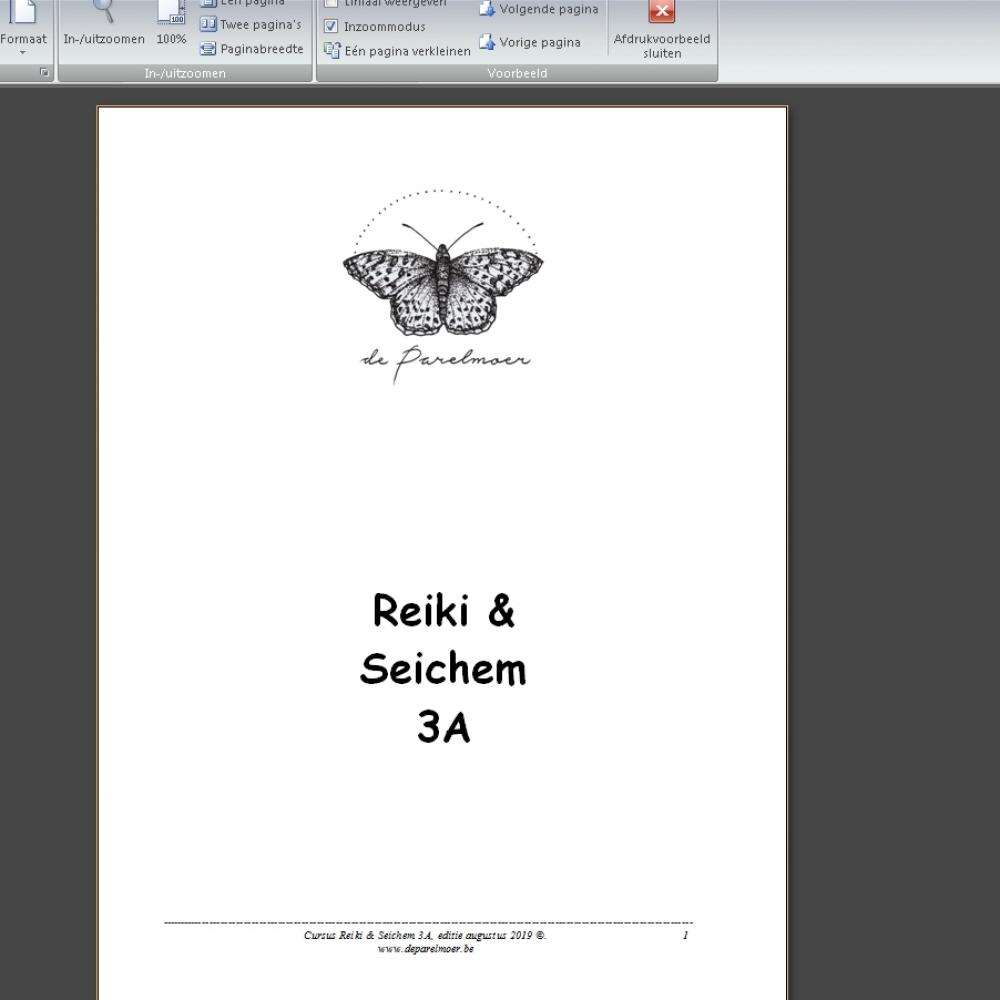 Reiki 3A-inwijding